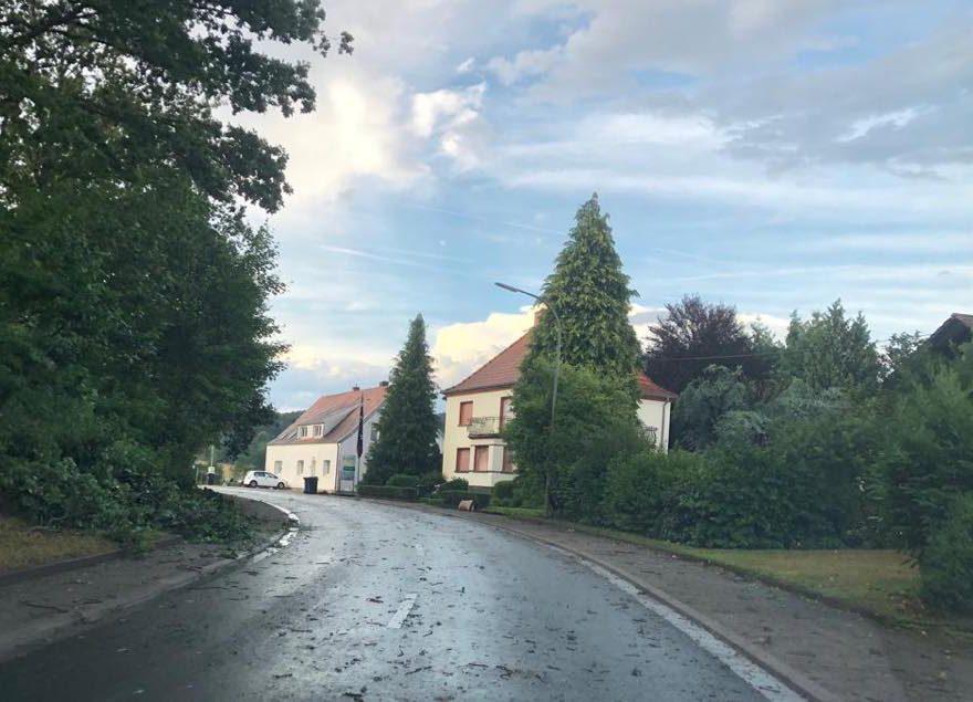 Oberkircherstraße nach dem Einsatz